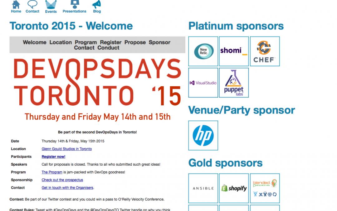 Come to DevOps Days Toronto!