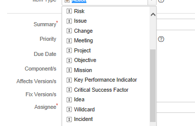 Jira Items Not Jira Issues