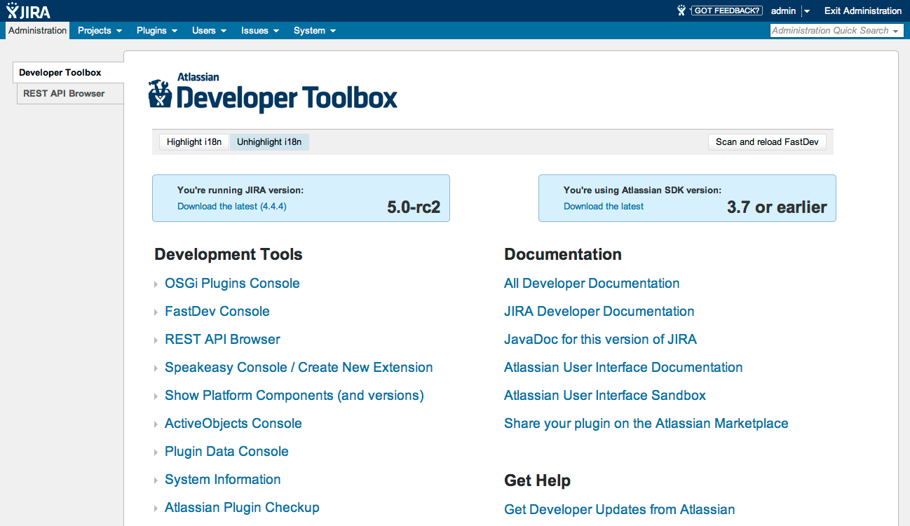 Atlassian Developer Toolbox 3