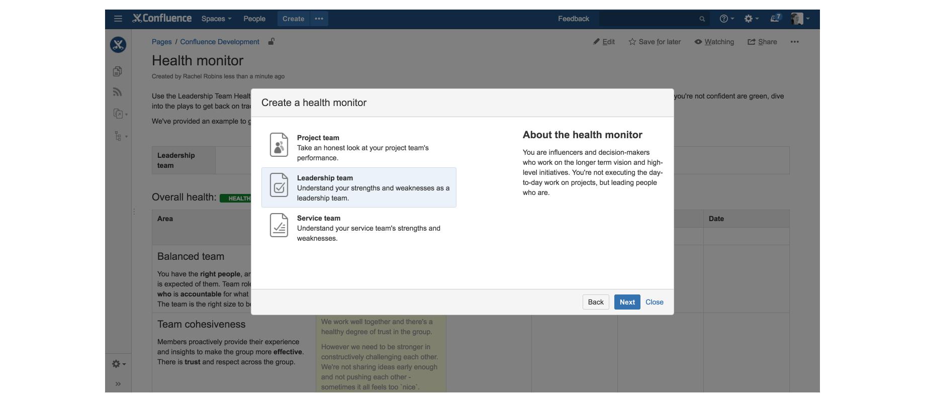 Atlassian Team Playbook blueprints 3