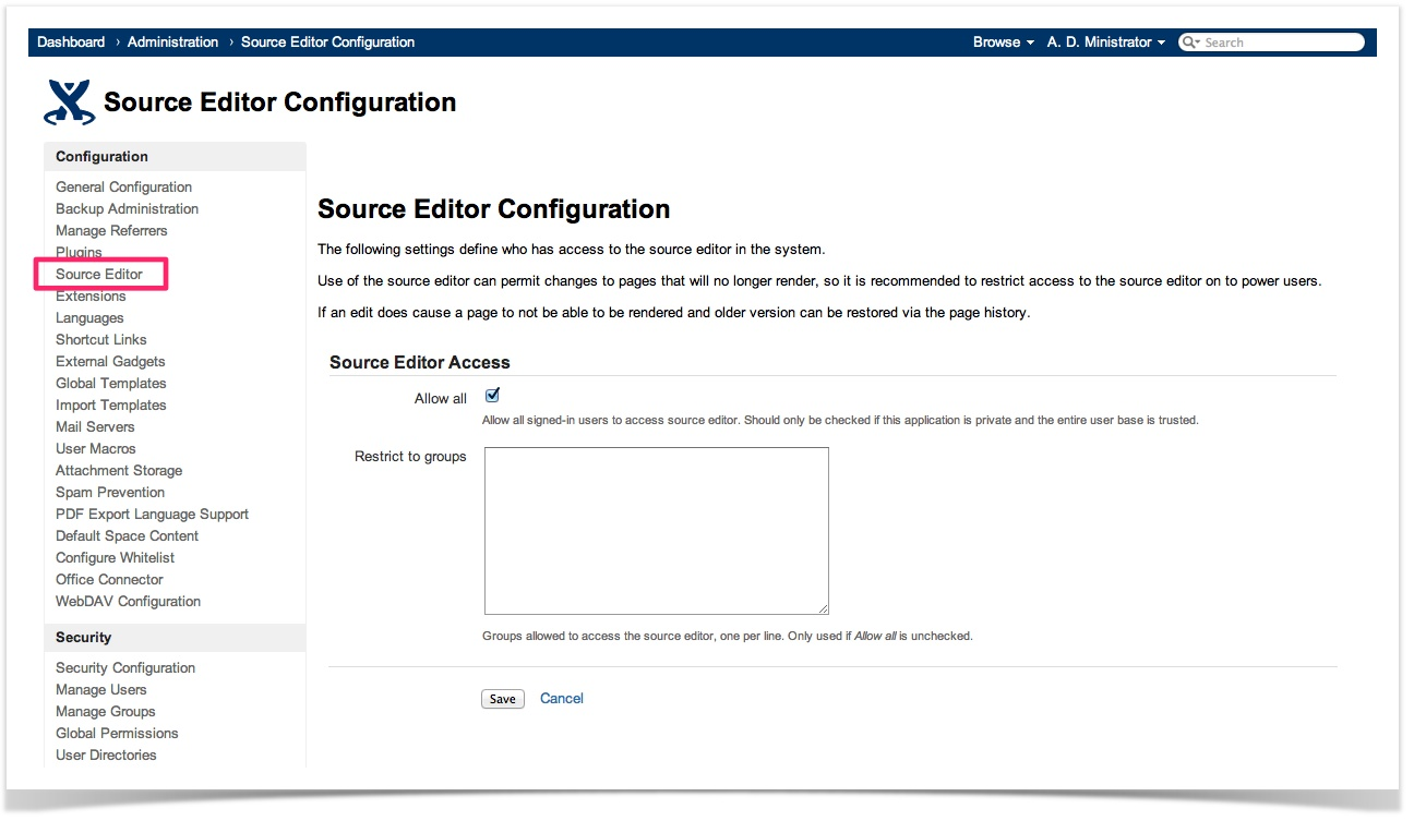 Confluence Source Editor 3