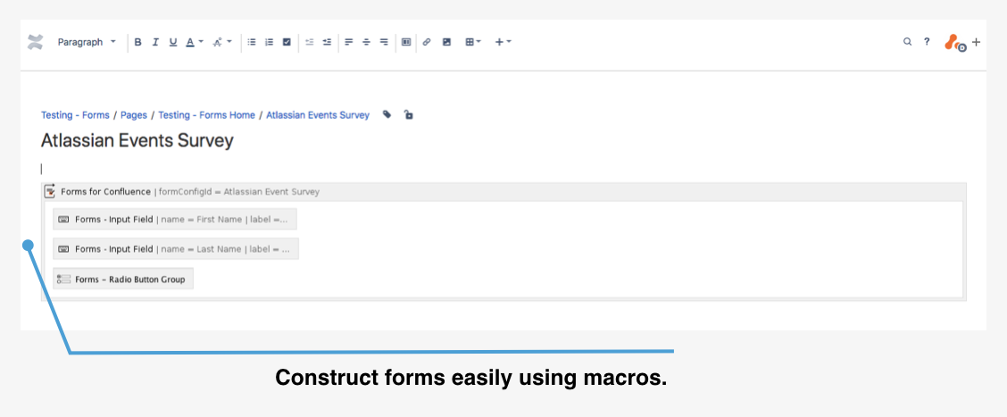 Forms for Confluence 3