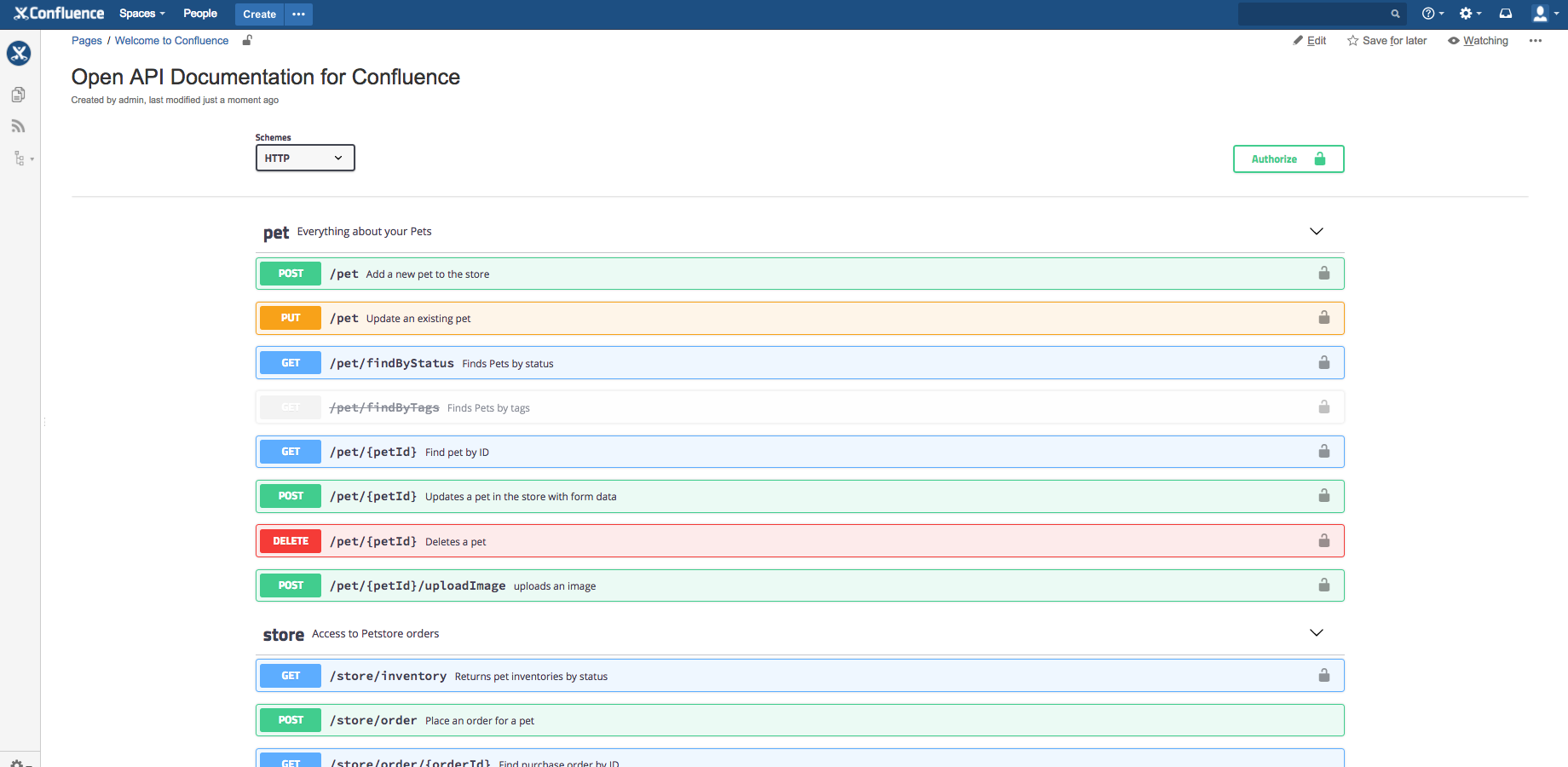 Open API Documentation for Confluence - Blended Perspectives