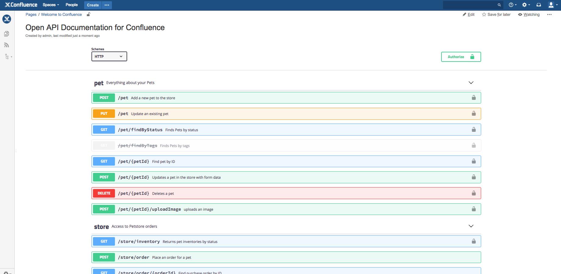 Open API Documentation for Confluence 3