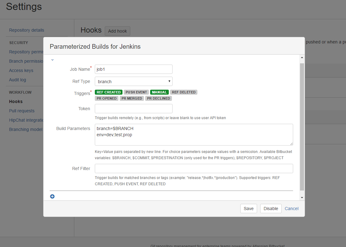 Parameterized Builds for Jenkins 3