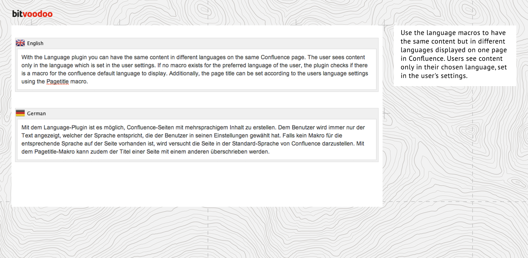 Language Macros for Confluence 3