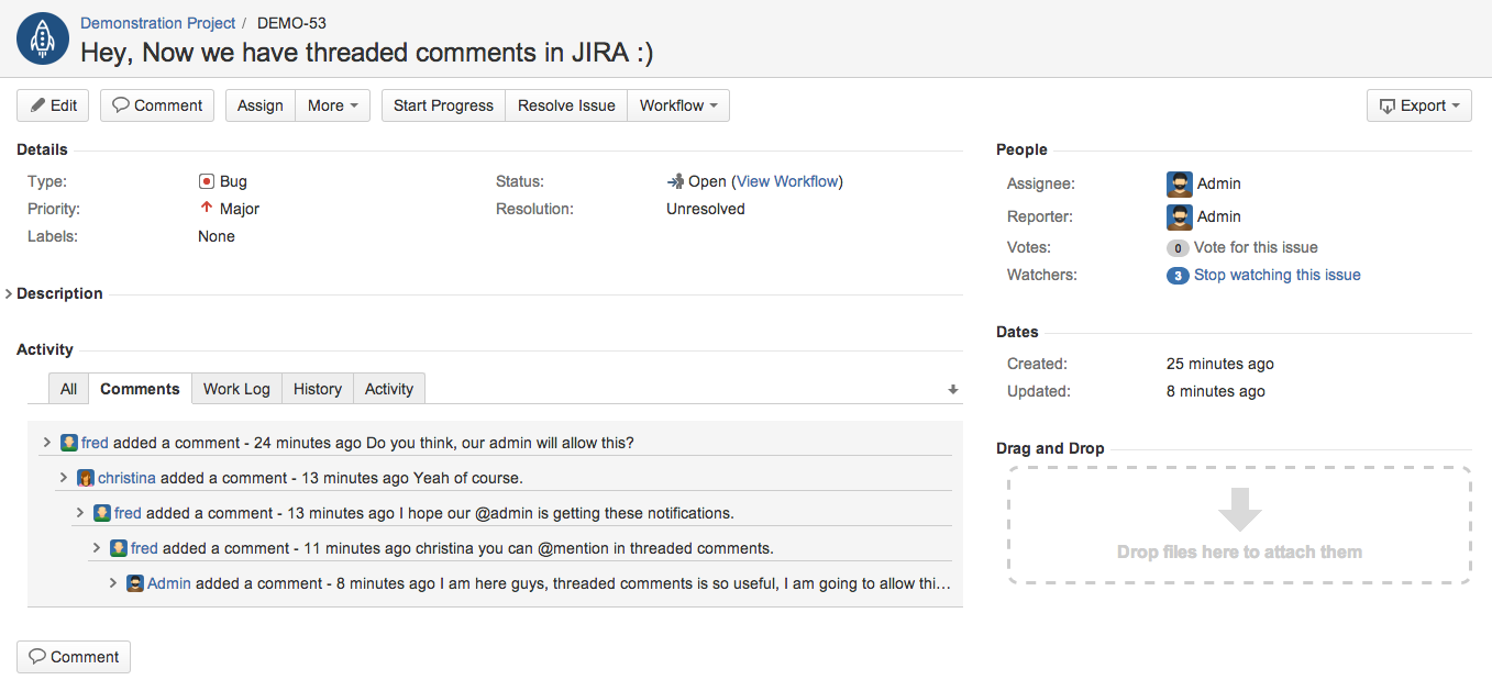 Threaded Comments for Jira 3