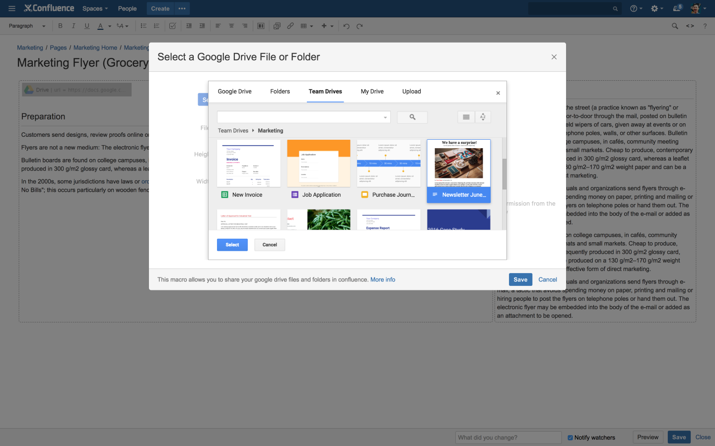 Connector for Google Drive & Confluence 3