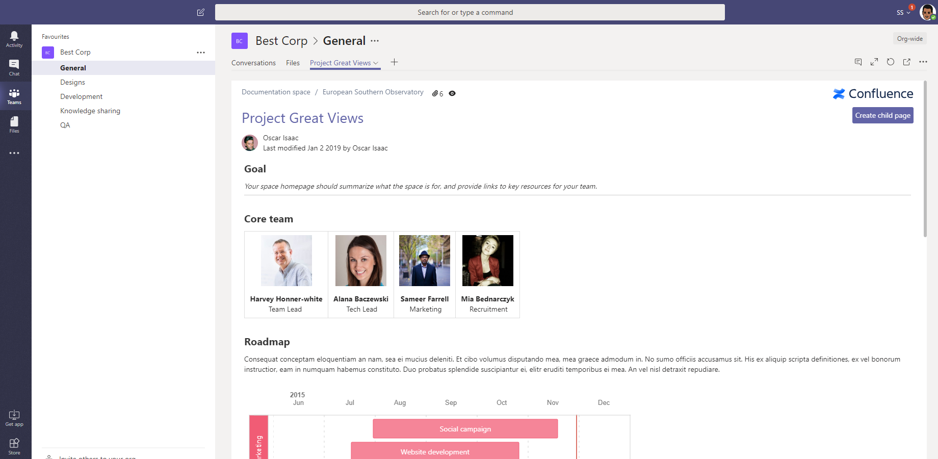Microsoft Teams for Confluence Cloud 3