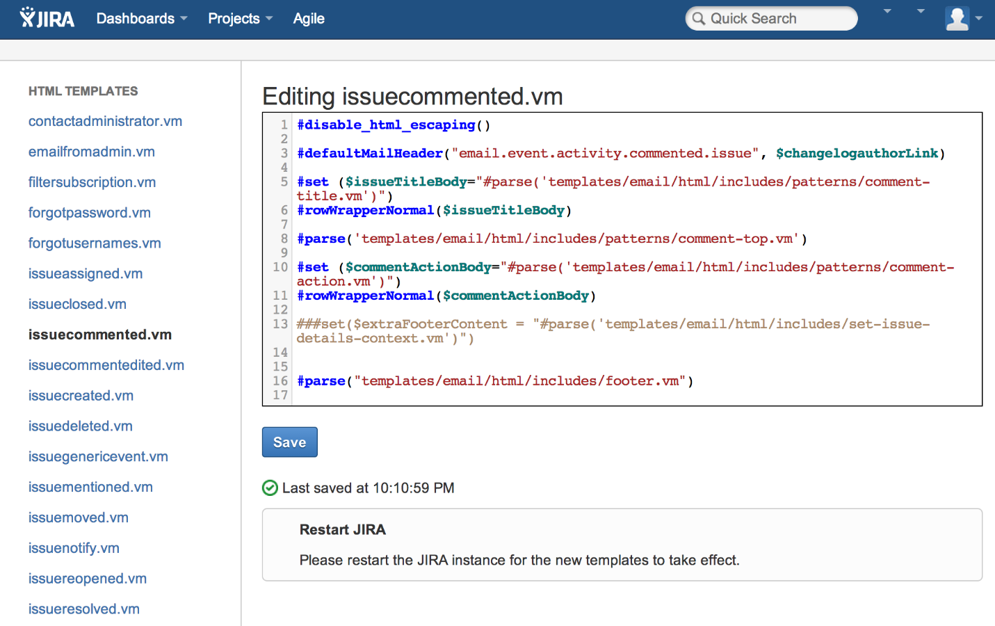 Outgoing Email Template Editor for Jira 2