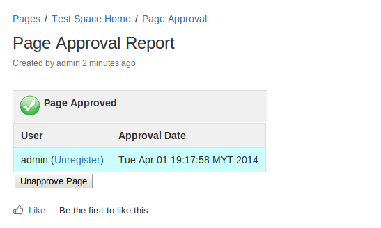 Page Approval for Confluence 3