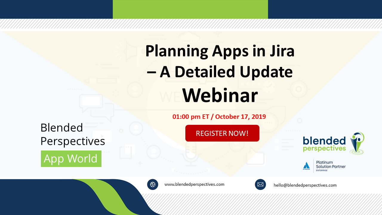 Planning Apps in Jira – A Detailed Update – Webinar