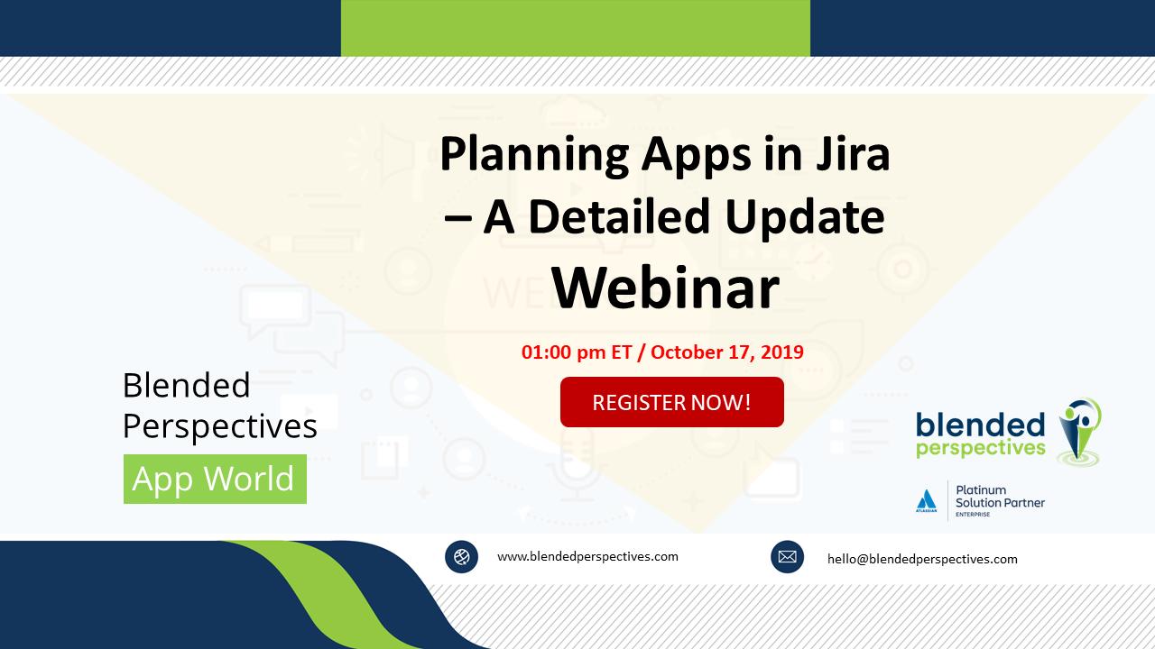 Planning Apps in Jira – A Detailed Update – Webinar