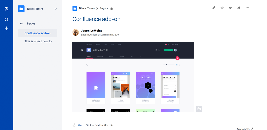 InVision for Confluence 3
