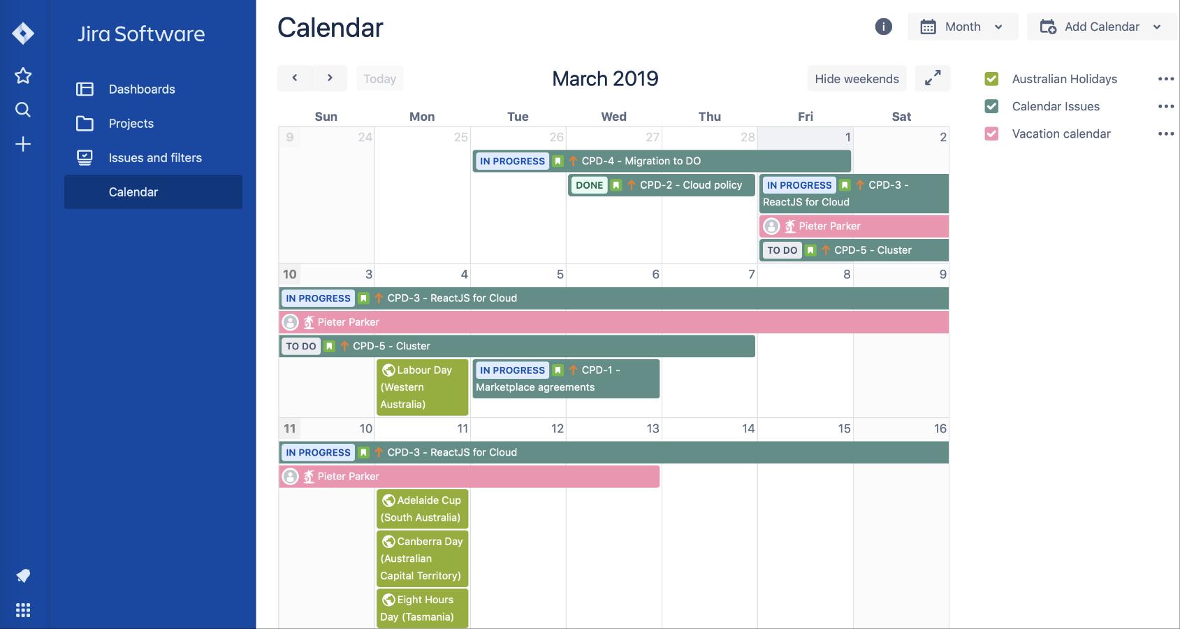 Calendar for Jira 3