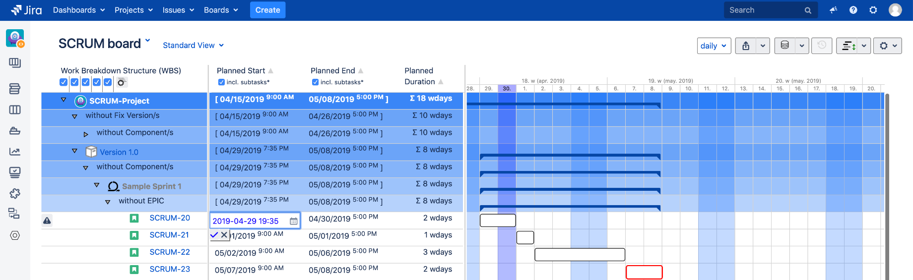 Gantt-Chart for Jira 3
