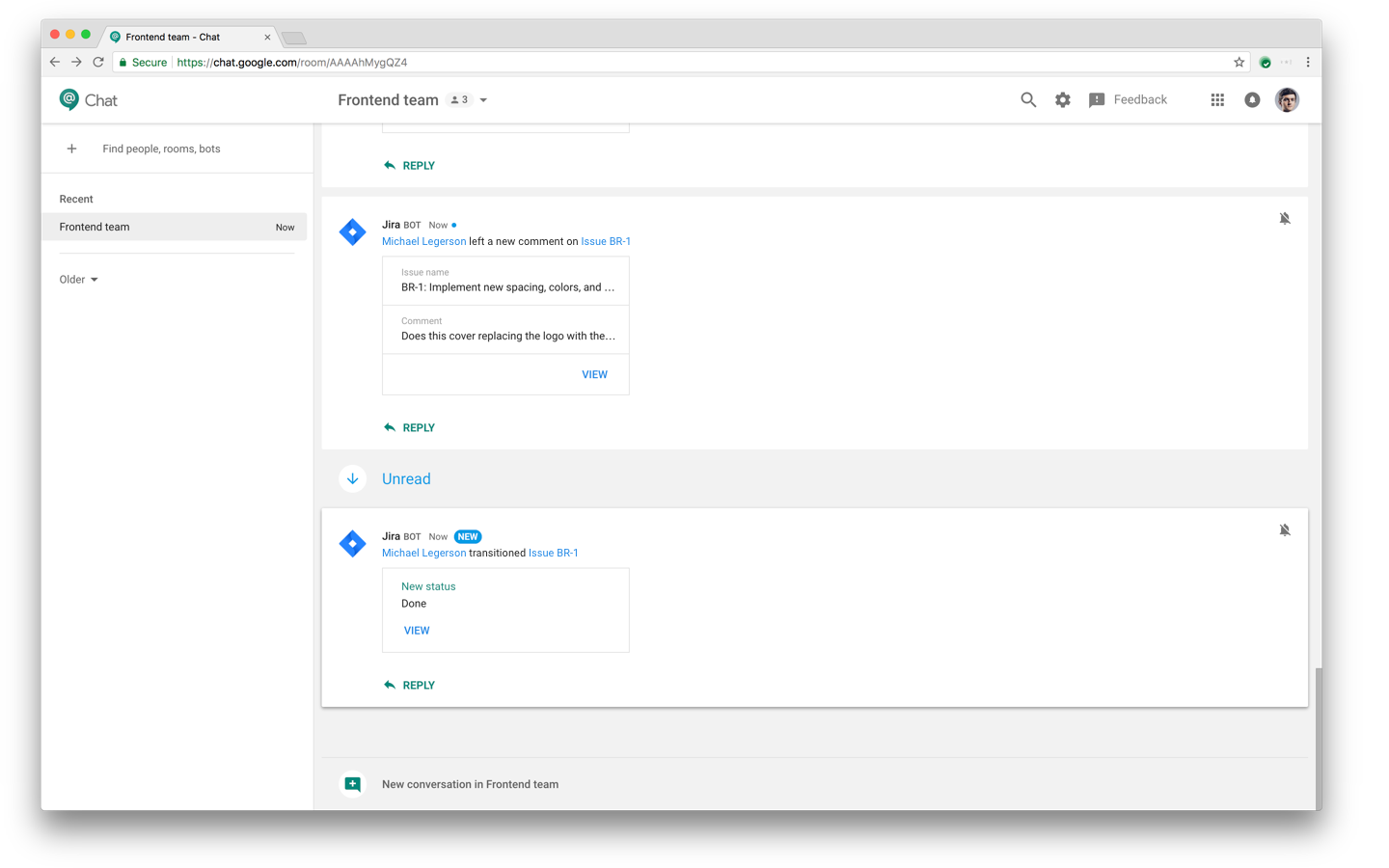Hangouts Chat bot for Jira Cloud 3