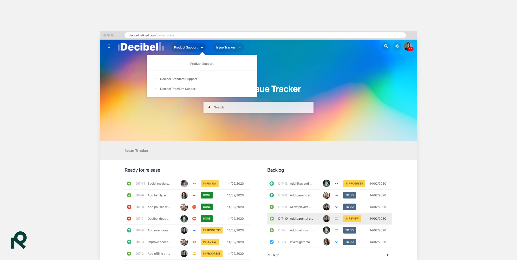Refined for Jira - Sites and Themes 3