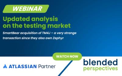 Webinar - Analyse actualisée du marché des tests - Acquisition de TM4J par SmartBear