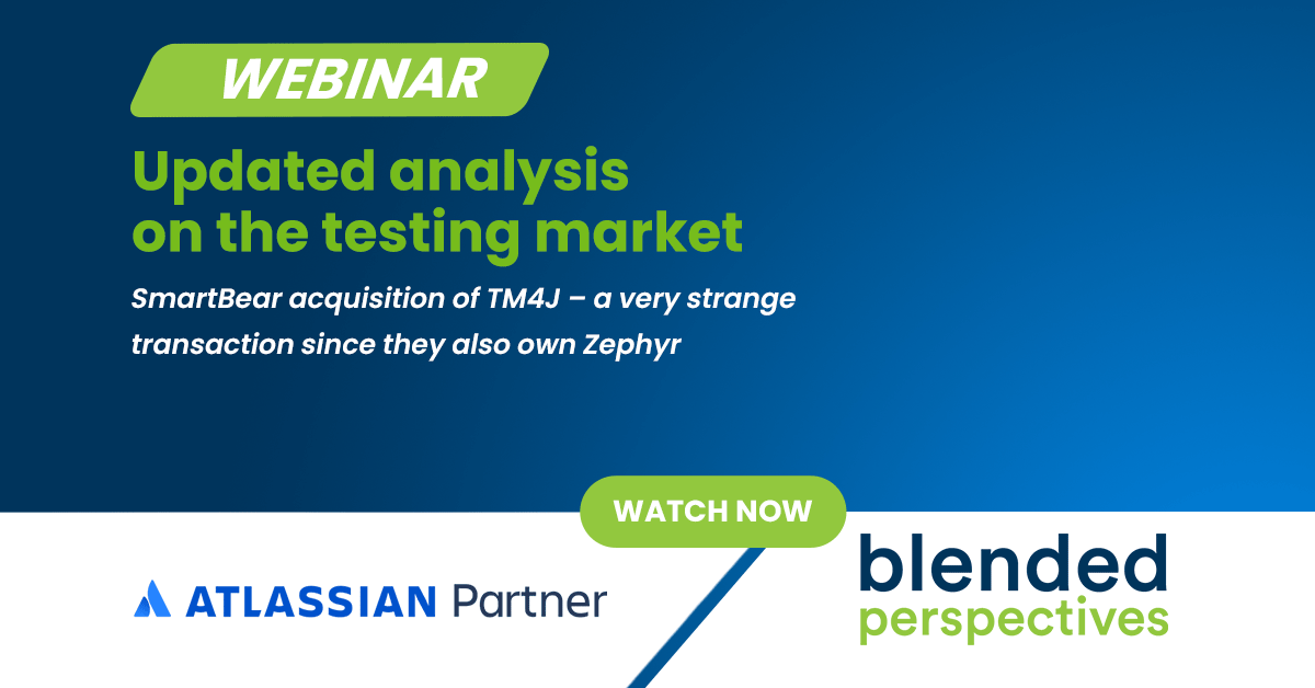 Webinar - Updated analysis on the testing market - SmartBear acquisition of TM4J 33