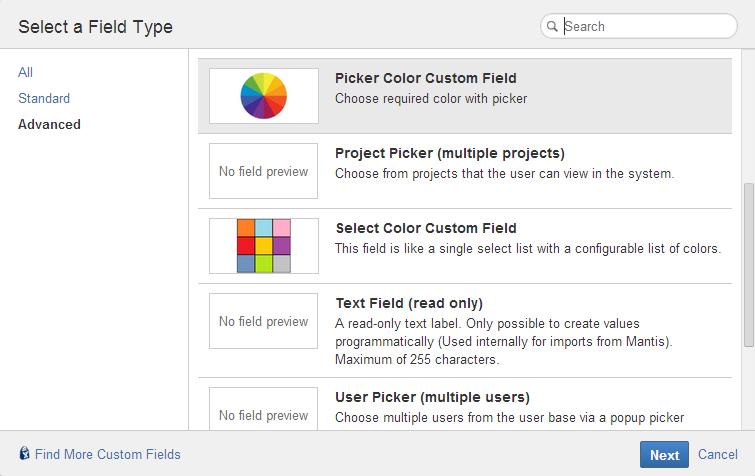 Champs personnalisés de couleur 3