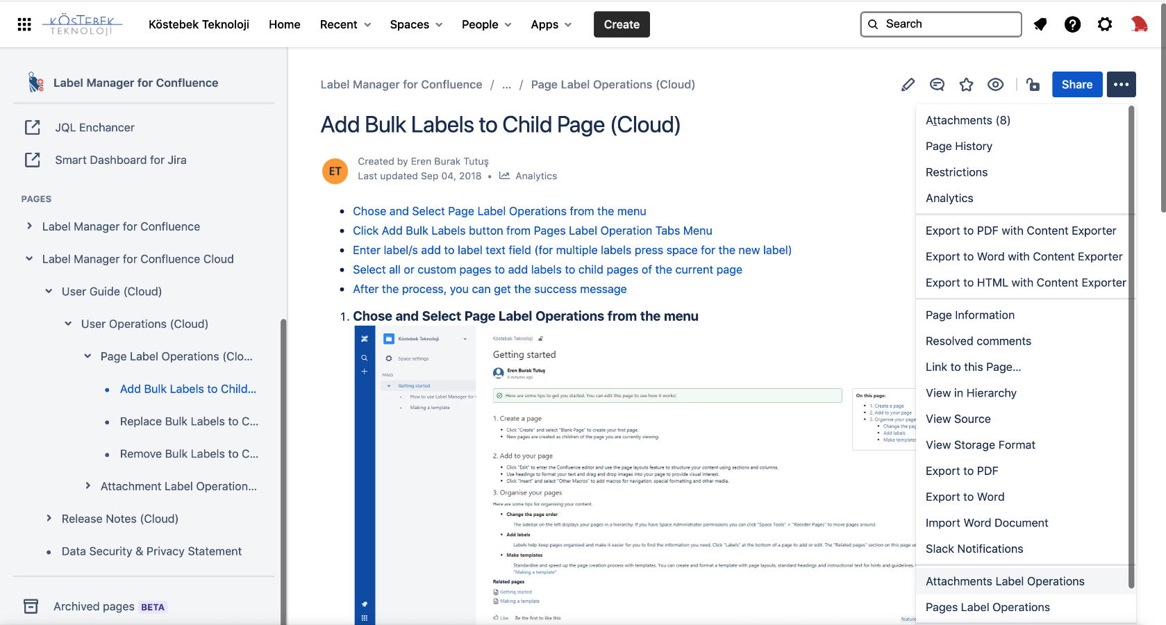 Label Manager for Confluence 3