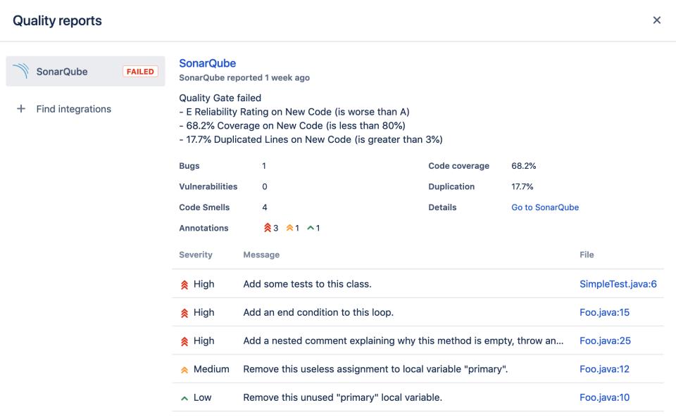 SonarQube™ pour Bitbucket Server 3