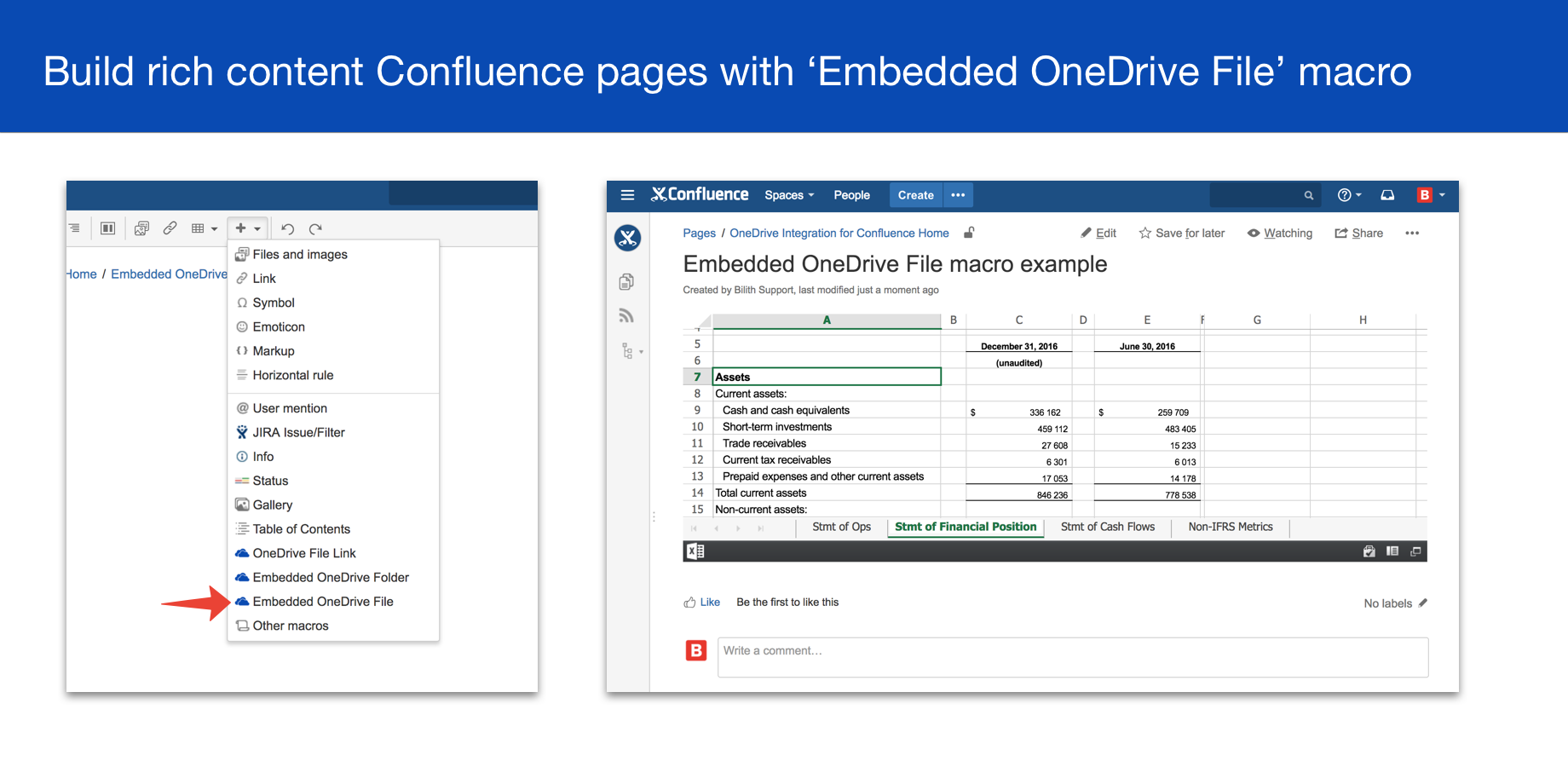 OneDrive & SharePoint for Confluence 3