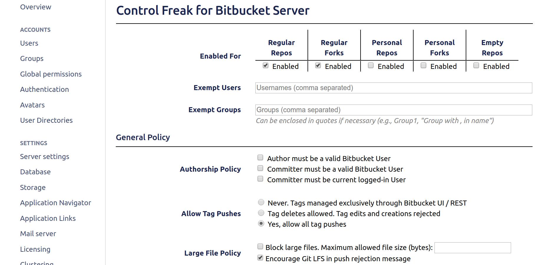 Control Freak Hook for Bitbucket 3