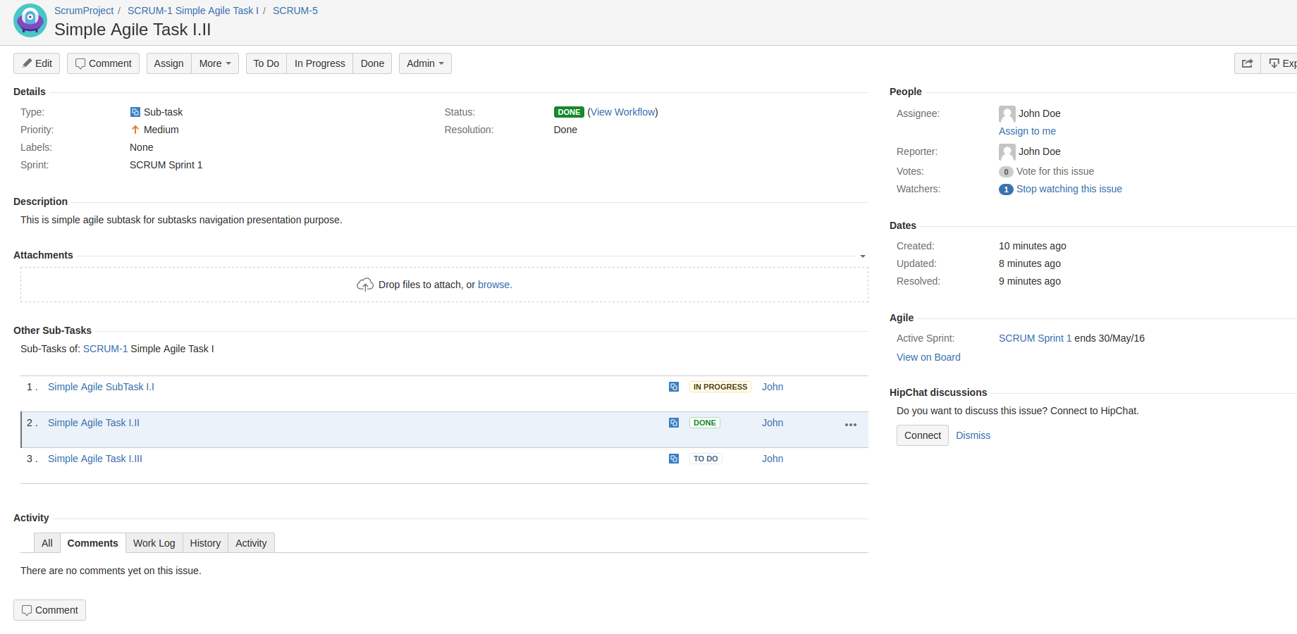 Subtasks Navigation for Jira 3