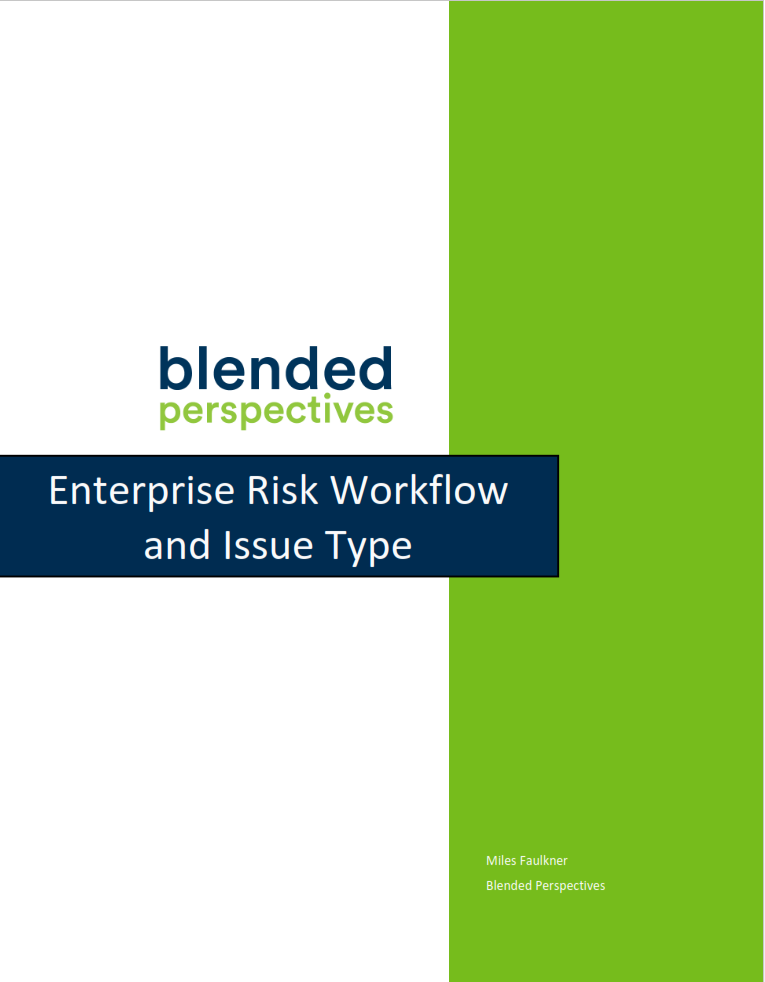 Enterprise Risk Workflow and Issue Type 4