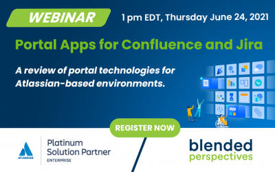 Webinar – Portal Apps for Confluence and Jira – June 24, 2021