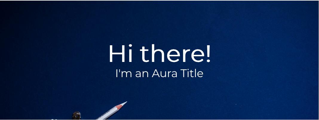 Aura title