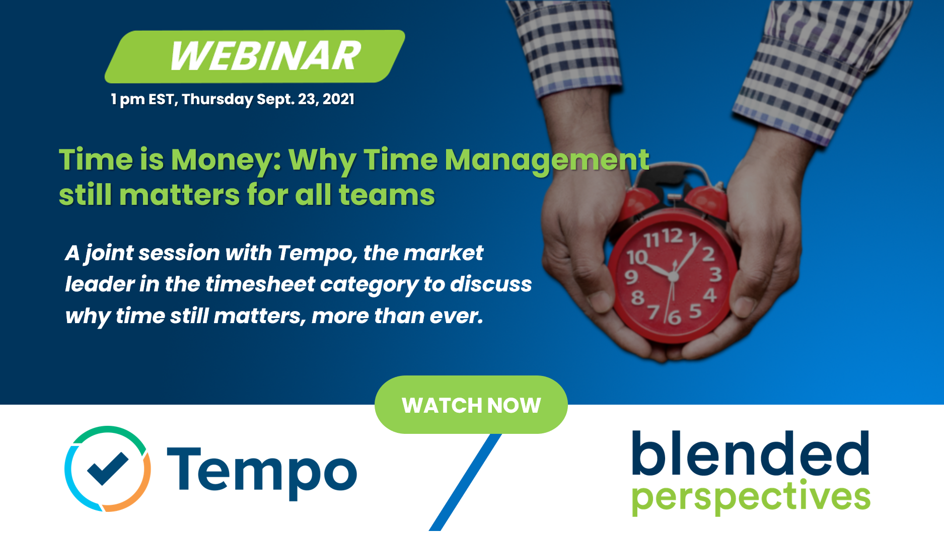 [Webinar] Time is Money - Why Time Management still matters for all teams 29