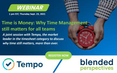 [Webinar] Le temps c'est de l'argent - Pourquoi la gestion du temps est toujours importante pour toutes les équipes.