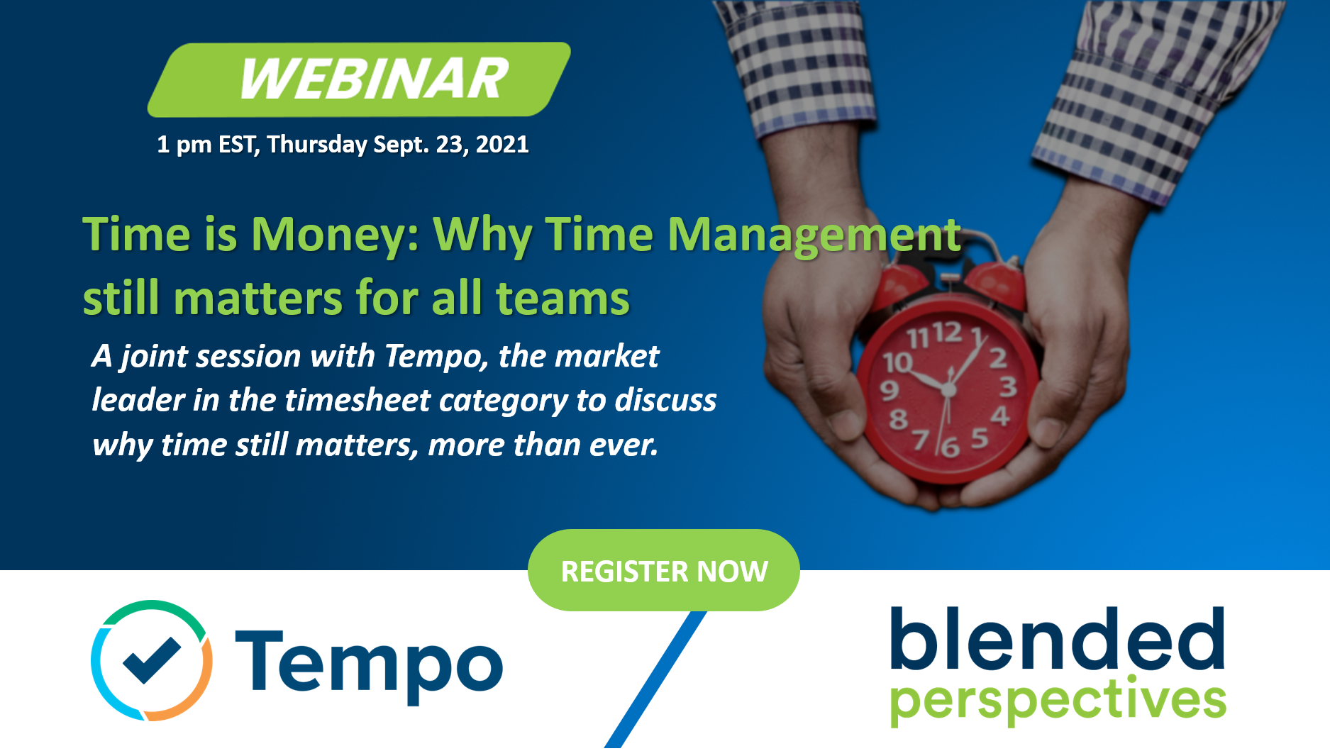 Tempo Webinar gestion du temps mixte